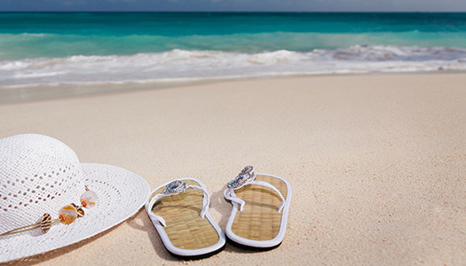 Sandals-and-Hat-on-Beach